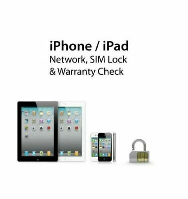 Apple iPhone iPad IMEI Check Carrier SIMLOCK Find My Iphone Status Fast Checker