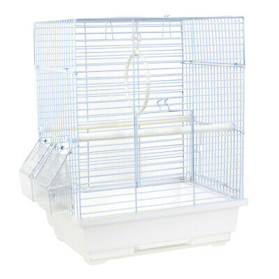 Small Bird Cage Parrot Budgie Canary Finch Travel Feeder Tray Aviary w/ Handle