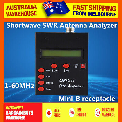 1-60Mhz SARK100 HF ANT Shortwave SWR Antenna Analyzer For Ham Radio