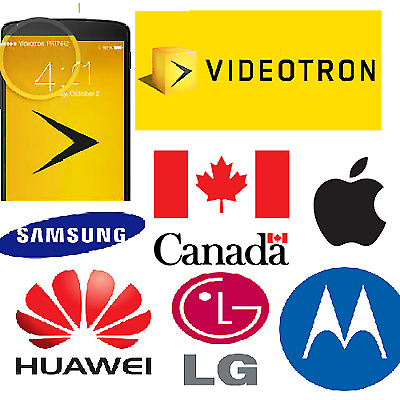 FACTORY UNLOCK SERVICE Videotron CANADA IPhone 4 5 5s 6 SE 6s 7 8 X CLEAN ONLY