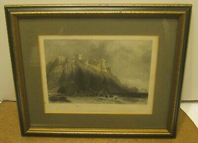 Antique Engraving COLZEAN CASTLE by W. H. BARTLETT Pro Matted & Framed!!!