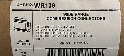 BlackBurn H-tap Compression Connector WR-139, New Box of 25, Free Shipping!