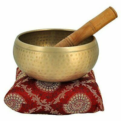Meditation Bowl with Stick and Cushion Tibetan Buddhist Singing Bowl 3.5 inches