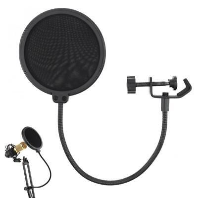 Recording Studio Microphone Filter Mic Wind Screen Mask Shield Double Layer SH