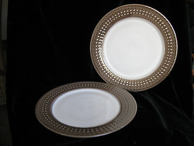 Pair of Denby Intro Mocha Large Dinner Plates 28cm brown - MORE!