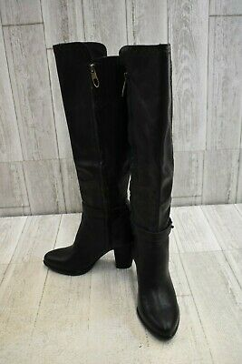 251ddf335b2 UGG CLAUDINE BOOTS 9 Black Leather Knee High Riding Boho Shoes UGGS ...
