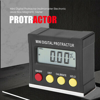Set Digital Protractor Mini Gauges LCD Replacement Magnetic Inclinometer