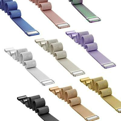 Für Fitbit Charge 3 Milanese Band Edelstahlband Smartwatch Magnet Armbänder S L