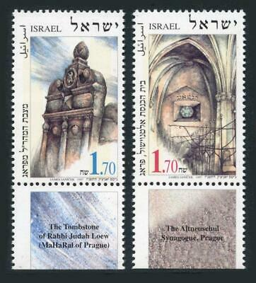 Israel: 1997 Jewish Monuments in Prague (1302-1303) With Tabs MNH