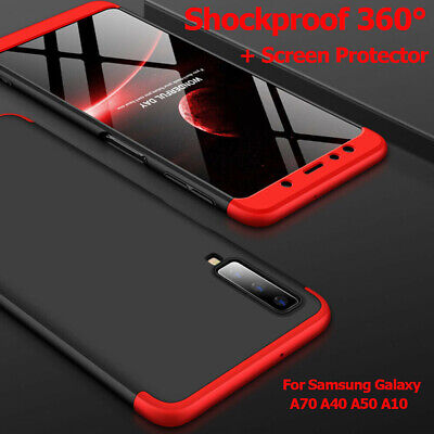 Samsung Galaxy A10 A40 A50 A70 Shockproof 360° Case Cover+Screen Protector