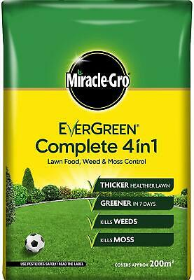 Evergreen Complete 4In1 Weed Killer Moss 7Kg - 200M2 Thicker Lawn Care Spreader