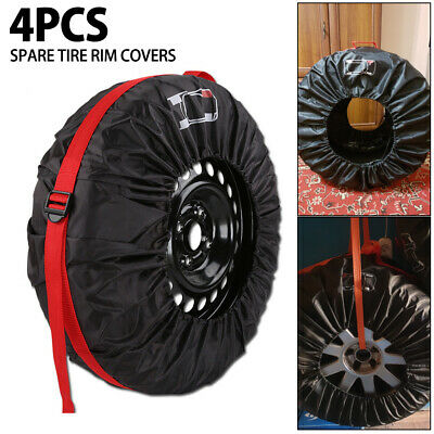 """4X Spare Tire Rim Covers Rain Resistant L Wheel Protect Fit 13-19"""" Tyre Quality"""