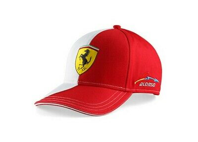 Cap 133-600 Formula One 1 Rosso Corsa Ferrari F1 Fernando Alonso NEW White Panel
