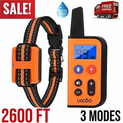 Dog Training E Collar Remote Shock Electric Rechargeable Trainer Waterproof