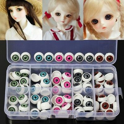 100pcs For Teddy Bear Doll Animal 12mm 5 Colors Plastic Safety Eyes Crafts Box
