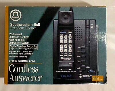 Southwestern Bell Vintage Cordless Freedom Telephone, Answering Machine FF694B