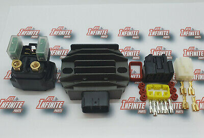 Yamaha  Wolverine 350 Regulator & Starter Solenoid & Plugs Premium Edition Kit