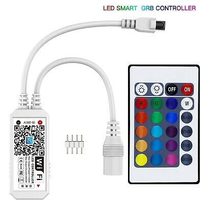 Mini Wifi RGB LED Smart Controller For LED Strip Lights IOS Android Google MORE