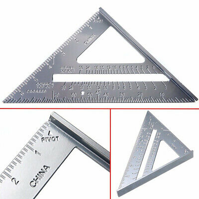 """New 7"""" Aluminum Roofing Roofer Square Carpenters Wood Working 7 Inch Alloy Tool"""