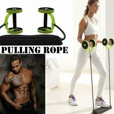 Abdominal Power Roll Trainer Waist Slimming Exerciser Core Super Wheel Doub S0I9