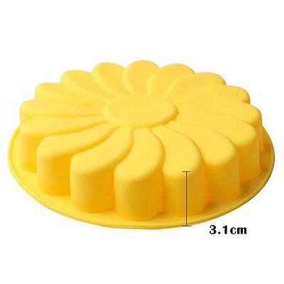 Sunflower Fondant Sugarcraft Mould Chocolate Cake Clay Silicone Mold DIY DS
