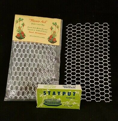 Stayput Flower Aid & Plastic Coated Wire - Vintage Collector's Items.