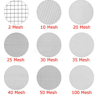 2/10/20/25/30/35/40/50/100 Mesh Woven Wire Cloth Sheet Filtration Filter