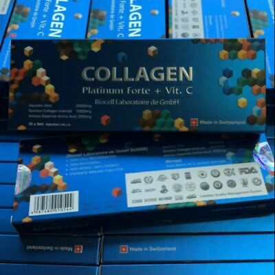 1box COLLAGEN Platinium Forte + Vit C BIOCELL reduce fade for body and face firm