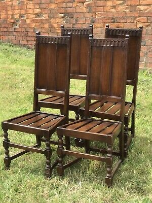 Four Matching ERCOL Vintage Old Colonial Yorkshire Kitchen Dining Chairs