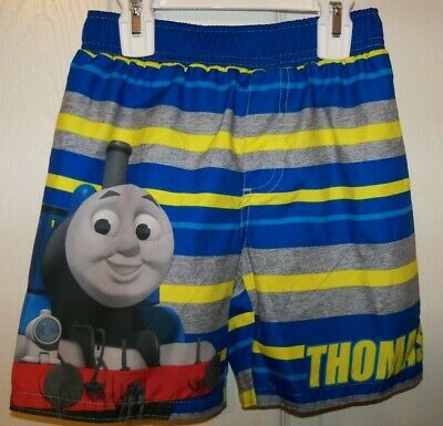 Toddler Boys Swim Trunks THOMAS THE TRAIN /& FRIENDS Red Blue 18 MO 24 MO 3T 4T