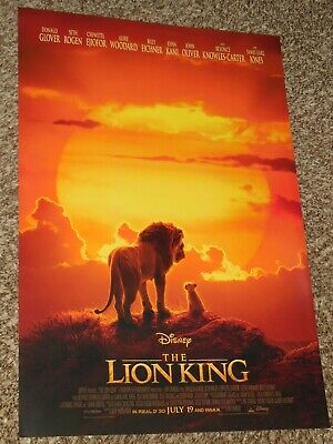 The Lion King 2019 -13.5x20 Promo D/S Movie POSTER