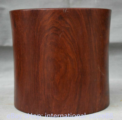 "9.2"" Collect Old Chinese Huanghuali Wood Dynasty Palace Ghost Eyes Brush Pot"