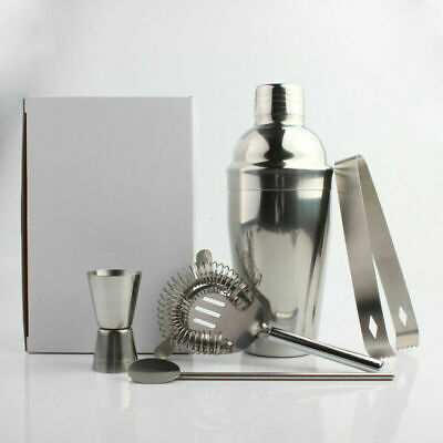5pcs/Set Stainless Steel 550ML Cocktail Shaker Bartender Tools Drink Kit for Bar