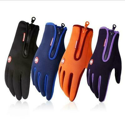 Winter Outdoor Sports Windstopper Gloves Waterproof Thermal Cycling Gloves R6B8