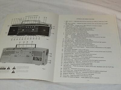 Sears Stereo Dual cassette Player/Recorder Owners Manual Model No.304.21450250