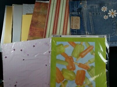 Scrapbooking Page Kits And Paper pad lot 13 plus pounds