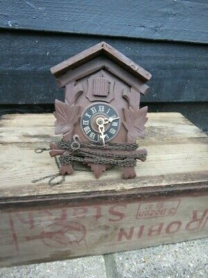 Vintage Regula Black Forest Cuckoo Clock For Spares Or Repair