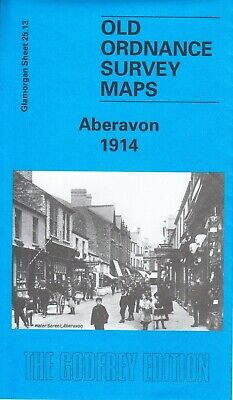 ABERAVON 1914, Old Ordnance Survey Map, Glamorgan Sheet 25.13, Alan Godfrey Maps