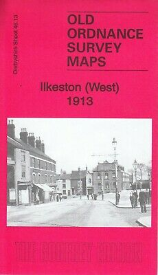 ILKESTON (West) 1913, Old Ordnance Survey Map, Derbyshire Sheet 46.13, Reprint