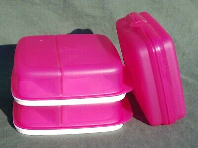 New TUPPERWARE Lunch-It® Container Set/2 Perfect Portion Divided Dish W/Sandwich