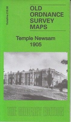 TEMPLE NEWSAM 1905, Old Ordnance Survey Map, Yorkshire, Alan Godfrey Reprint