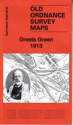 GREETS GREEN 1913, Old Ordnance Survey Map, Staffordshire Sheet 68.09
