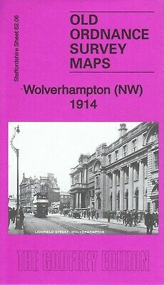 WOLVERHAMPTON (NW) 1914, Old Ordnance Survey Map, Staffordshire Sheet 62.06