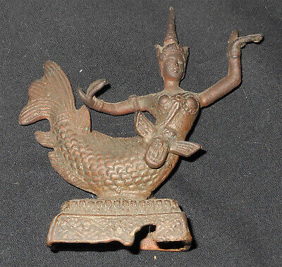 UNIQUE Classical Cambodian Water or Wealth diety /Goddess  bronze statue