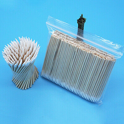 100pcs Cotton Swabs Tips Pointed Swab Applicator Q Tips Wooden