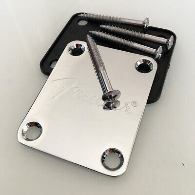 Chrome Guitar Neck Plate for St and tele guitar