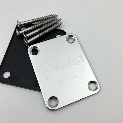 ST Tele Telecaster Chrome Electric Guitar Plate bass Neck Joint Board And Screws