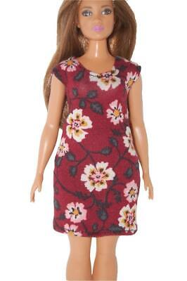 Dress made for Curvy Barbie Fashionista Doll Clothes TKCT Minty green short