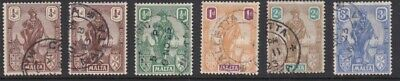 Malta 1922 Definitives to 2/6 Good Used (12) SG cat = £76+