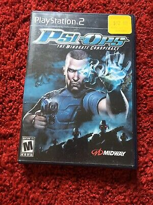 Psi-Ops: The Mindgate Conspiracy (Sony PlayStation 2, 2004) Without Booklet